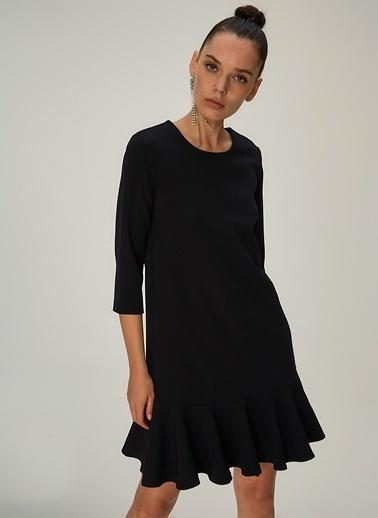 NGSTYLE Volanlı Mini Elbise Somon